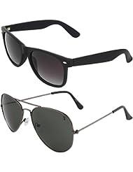 Zyaden COMBO Of Wayfarer Sunglasses & Aviator Sunglasses (Combo-2)