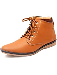 Shoe Rock Vision Men's Tan Synthetic Leather Casual Boots