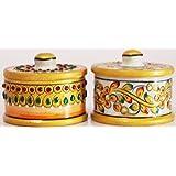 Beautiful Handmade Marble Set Of 2 Utilty Container/Bowls/Box Beautiful Marble Utility Container Can Be Used In...