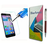 BlueArmor HD Clear Tempered Glass Screen Guard Protector For Micromax Canvas Play 4G Q469 (Pack Of One) + Solitaire...