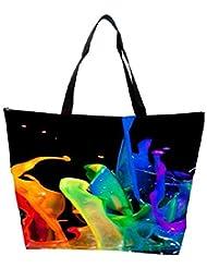Snoogg Paint Brush Splash Waterproof Bag Made Of High Strength Nylon