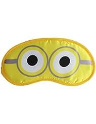 Cartoon Two Eyes Sleep Eye Mask With Elastic (1b612) - Yellow - Fancy Sleeping Eye Masks For Travel Or Daily Use