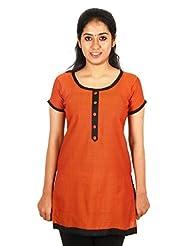 Aashitha Women's Poly Cotton Straight Kurta - B0179R6EU6