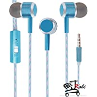 Premium Perfumed / Fragrance In Ear Bud Headset Earphones With Mic Compatible For Micromax Canvas Mega E353 -Blue