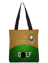Snoogg Ball In Sand Golf Background Designer Poly Canvas Tote Bag