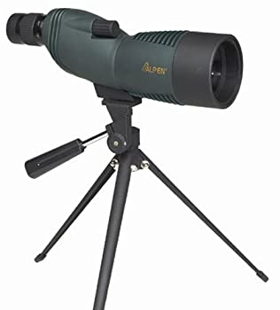 ALPEN Waterproof Fogproof Spotting Scopes. Straight or 45 Degree Models Available with BAK4 High Index or BK7 Glass, and Fully Multi-Coated or Multi-Coated Optics. Table-top Tripod and Field Carrying Case Included