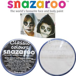 Great Group Halloween Costumes: The Addams Family - 2 Large 18ml Snazaroo Face Painting Compacts Colors: 1 BLACK and 1 WHITE - Uncle Fester and Wednesday