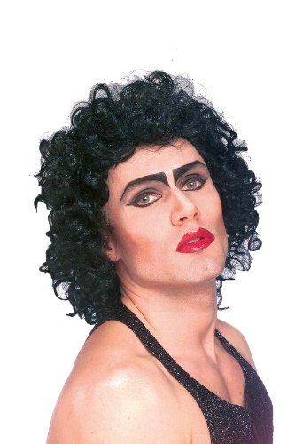 The Rocky Horror Picture Show Frank And Furter Wig, Black, One Size