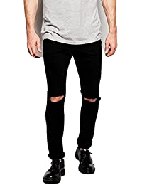 Anbow Distressed - Ripped Black Slim Fit Jeans