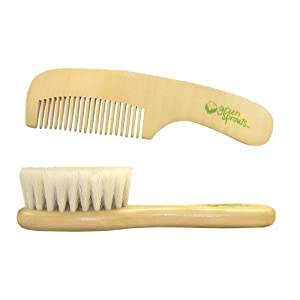 Amazon.com: green sprouts Wooden Brush and Comb Set