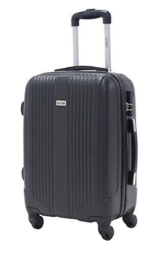Valise cabine 55cm - Trolley ALISTAIR Airo - ABS ultra Léger - 4 roues - Noir