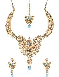 Mehek Design Gold Metal Strand Jewellery Set For Women (VD138)