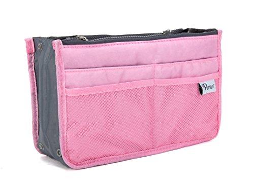 Periea - Organiseur de sac à main, 12 Compartiments - Chelsy (Rose, Moyen: H17.5 x L28 x P2-16cm)