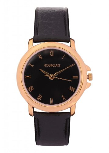 Hourglass Bound Elegance Analogue Black Dial Men's Watch