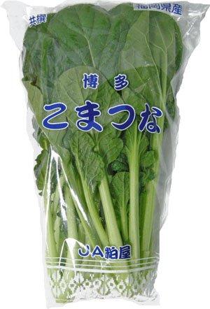 〈お得〉 九州産 野菜 小松菜(こまつな・コマツナ) 骨を丈夫に! 1袋  約200g  九州の安心・安全な野菜! 【長崎・福岡・九州】