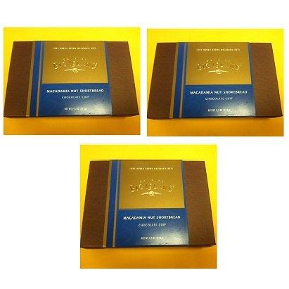 【ハワイ直送】ハワイお土産 【19枚x3箱】ビッグアイランド・キャンディーズ マカダミアナッツショートブレッド チョコレートチップ 19枚 3box of Big Island Candies Macadamia Nut Shortbread Chocolate Chip (7.5oz)
