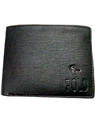 Polo Casual & Formal Imitation Leather Wallet For Men - Black - B01LEOHIAA