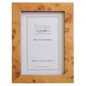 Amazon.com - Eccolo World Traveler Burl Wood Frame, Beige