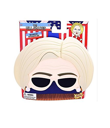 Trump and Clinton Halloween Costumes - Choose Edgy or Funny - Sunstaches 'The Hill' Hillary Clinton Sunglasses