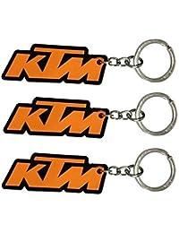 Parrk KTM Rubber Pack Of 3 Keychain