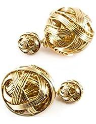 Golden Wire Celebrity Double Sided Celebrity Earrings