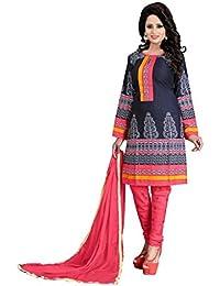 Marmic Fab Women's Cotton Printed Unstitched Regular Wear Salwar Suit Dress Material(MR_Dressmaterial_530)