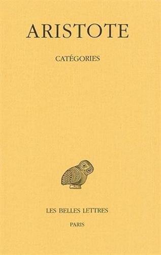 CATEGORIES (COLLECTION DES UNIVERSITES DE FRANCE SERIE By Ar