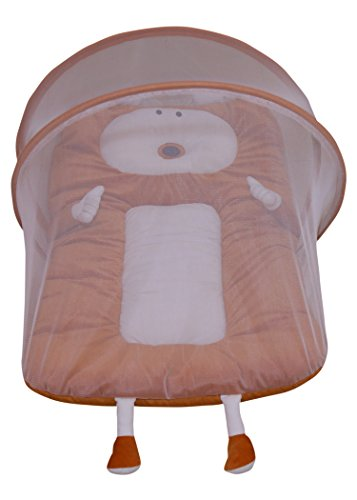 Amardeep Baby Mattress With Mosquito Net Brown XL Size 90*55*6 Cms 0-1yrs