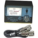 WORKMAN SWR-2T CB RADIO ANTENNA SWR METER W/ 3' COAX JUMPER CABLE KALIBUR ENDS