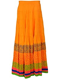 BHAGYODAYA Women's Cotton Ethnic Skirt
