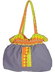 Bhagidhari Handloom Cotton 5 L Beach Tote Bag (SUSY-4)