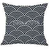 Alcoa Prime Nordic Style Cotton Linen Geometric Printed Throw Pillow Case Cover 18x18''