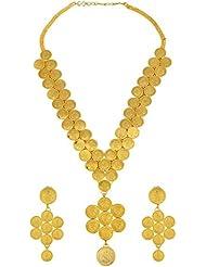 Memoir By Sambhav Crafts Gold Plated CZ Necklace Set For Men (PCKL0716)