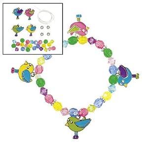 Amazon.com: Spring Bird Charm Bracelet Craft Kit - Crafts