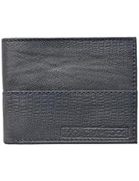 Crapgoos Crocodile (Blue) Color Genuine Leather Wallet For Men's (Card Slots-6)