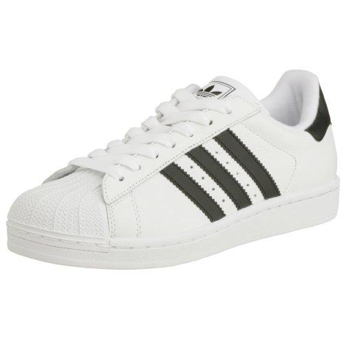 adidas Superstar II - Zapatillas de deporte para hombre, color blanco (blanc/noir/blanc), talla 43 1/3