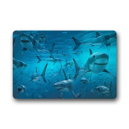 Deep Sea Shark Bathroom Mat