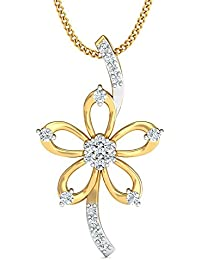 Stylori The Ridha Pendant 18k Yellow Gold And Diamond Pendant