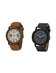 Oura Analog Round Casual Wear Watch For Men Combo Of 2pc