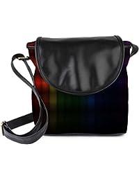 Snoogg Colorful Blocks Womens Sling Bag Small Size Tote Bag