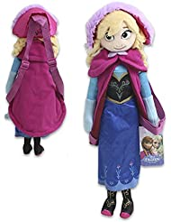 """Disneys Frozen Plush Anna Backpack 17"""" With Adjustable Straps"""