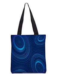 Snoogg Vector Fractal Background Designer Poly Canvas Tote Bag