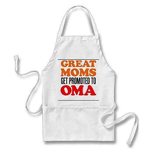 ColorUnique Great Moms Promoted To Oma Apron One Size Fit Most