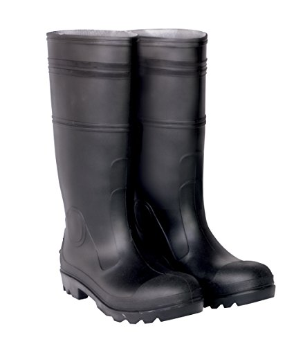 CLC R23011 Over The Sock Black PVC Men's Rain Boot, Size 11
