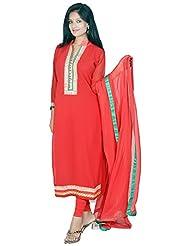 Tehzeeb Women's Faux Georgette Straight Salwar Suit - B016BH3MYQ