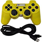 Digital Gaming World PS3 Wireless Controller For Sony Play Station 3 Console (Yellow Color Limited Edition), Compatible...
