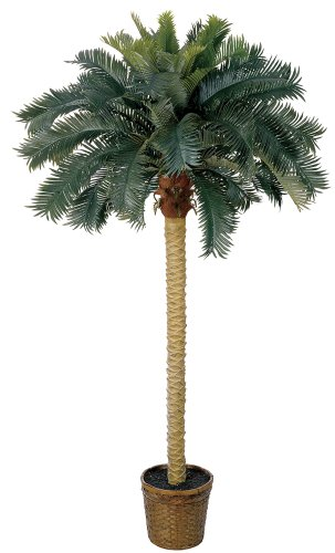 Artificial Palm Trees Indoor Outdoor Sago Silk 6 Foot Potted Fake ...