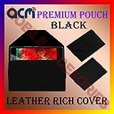 PREMIUM POUCH BLACK LEATHER CARRY CASE For INTEX AQUA POWER M MOBILE COVER