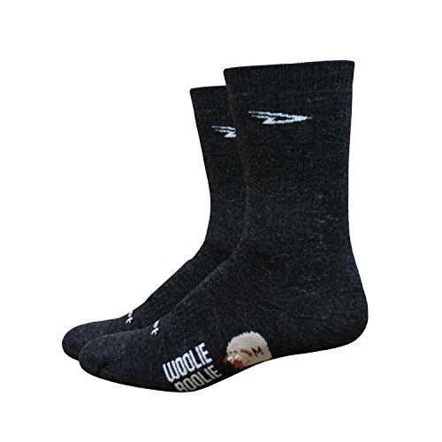 DeFeet Men's Woolie Boolie 6-Inch Sock, Charcoal, Large
