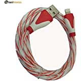 Basitronics Twisted Apple Lightning To USB Charging And Data Cable For Iphone,3 Feet (0.8 Meters) Orange